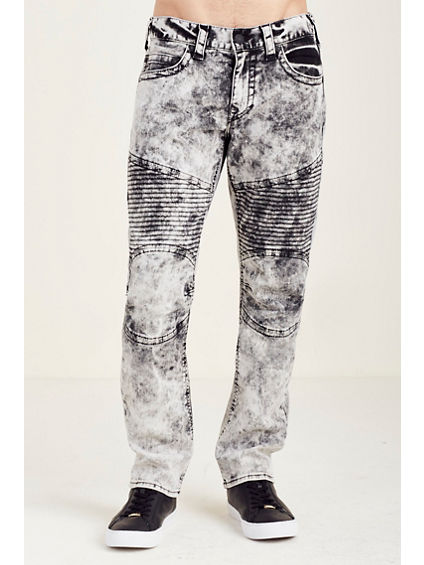 SLIM MOTO WASHED OUT MENS JEAN