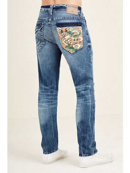 ROCCO SKINNY EMBROIDERED POCKET MENS JEAN