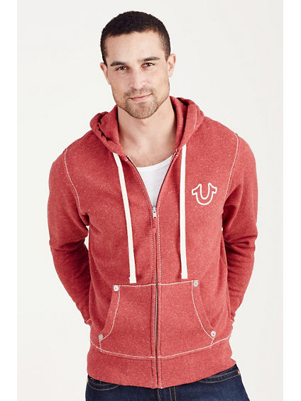 BIG T ZIP UP MENS HOODIE