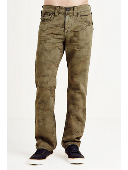 STRAIGHT FLAP GREEN MENS JEAN