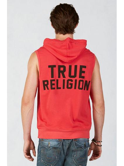 pullover sleeveless mens hoodie true religion
