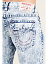 STRAIGHT FLAP BANDANA RIPPED PATCH MENS JEAN