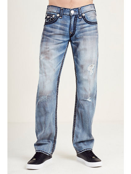 STRAIGHT FLAP GRAY SUPER QT STITCH MENS JEAN