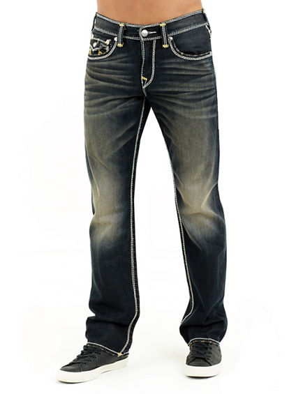 STRAIGHT FLAP NATURAL MENS JEAN
