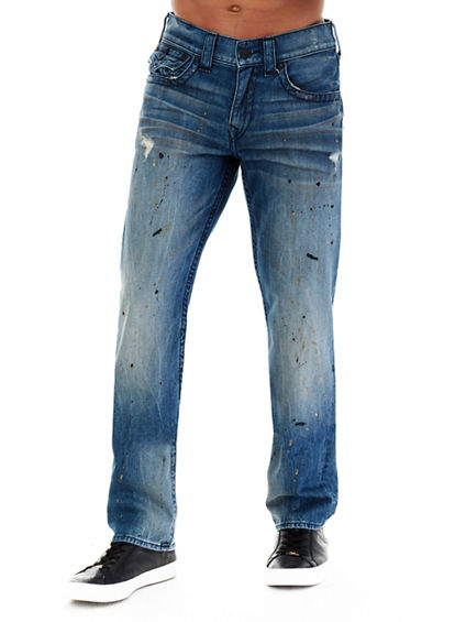 STRAIGHT FLAP PAINT SPLATTER MENS JEAN