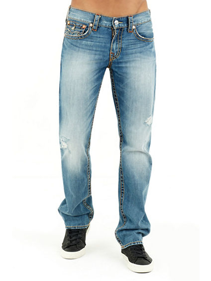 STRAIGHT FLAP OLD MULTI BIG T MENS JEAN