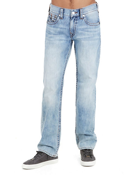 STRAIGHT FIT ACID WASH JEAN
