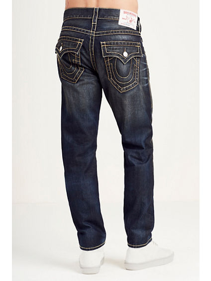 SKINNY GOLD BIG T STITCH MENS JEAN