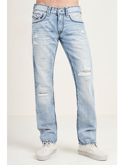 STRAIGHT FLAP MEGA T DESTRUCT MENS JEAN