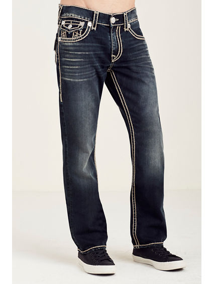 STRAIGHT FLAP NATURAL STITCH MENS JEAN