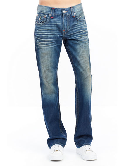 STRAIGHT FLAP EARTHWORM MENS JEANS