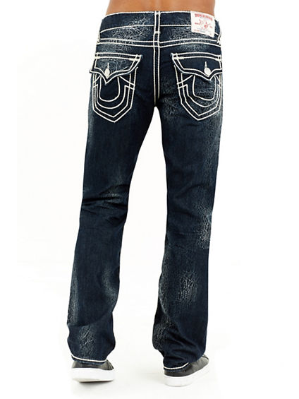 STRAIGHT FLAP NATURAL MENS JEANS