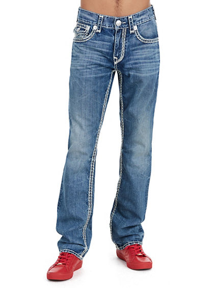 STRAIGHT FLAP NATURAL SUPER QT STITCH MENS JEAN