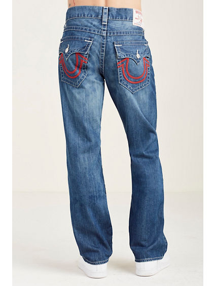 STRAIGHT FLAP RED V-STITCH MENS JEAN