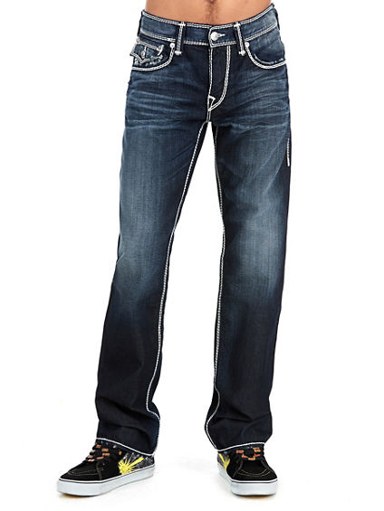 STRAIGHT FLAP NATURAL MEGA T MENS JEAN