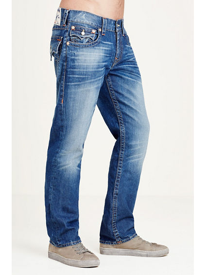 STRAIGHT FIT ORANGE STITCH JEAN