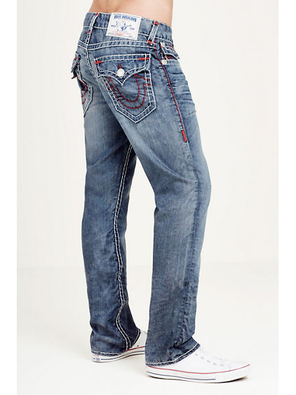 HAND PICKED STRAIGHT RED SUPER T MENS JEAN