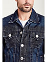 GREY SUPER T STITCH MENS TRUCKER JACKET