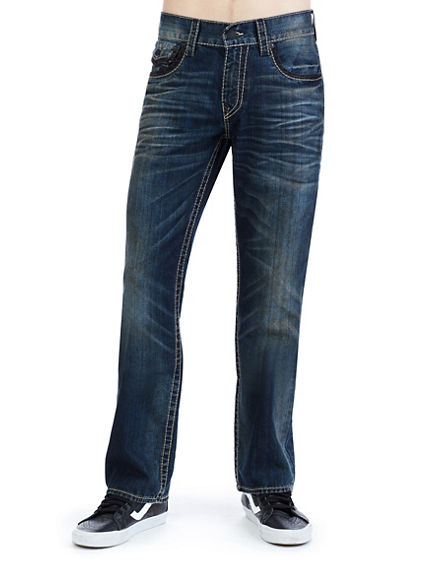 STRAIGHT FIT BIG T STITCH JEAN
