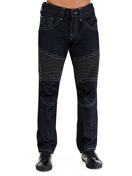 MOTO SLIM RUN STITCH MENS JEAN