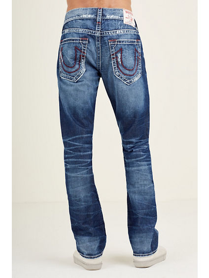 STRAIGHT  BIG T RED STITCH MENS JEAN