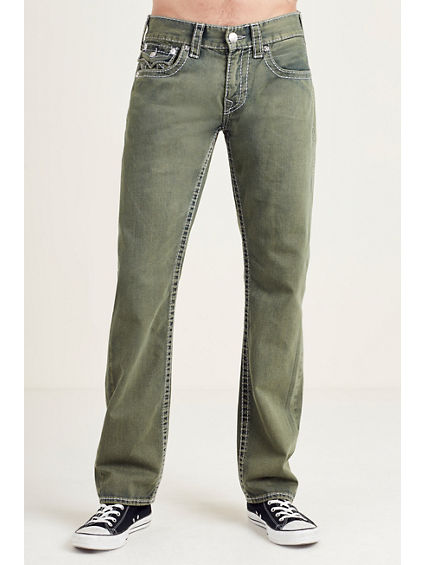 STRAIGHT FLAP GRAY BIG T STITCH MENS JEAN