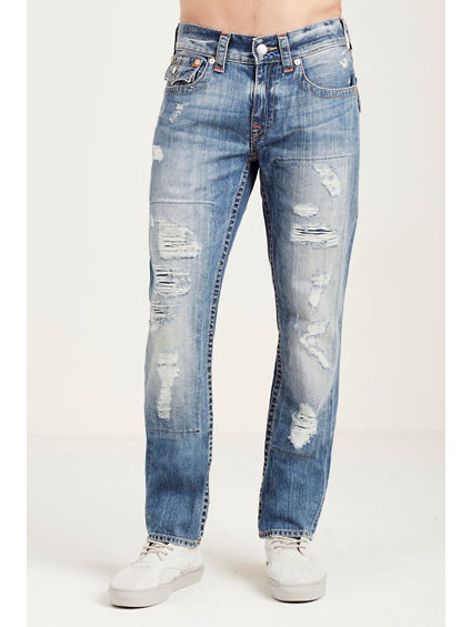 SLIM FLAP MULTI STITCH MENS JEAN