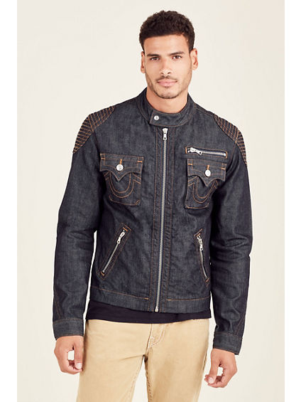 MOTO MENS DENIM JACKET