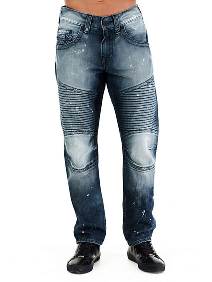 SLIM MOTO RUN STITCH MENS JEAN