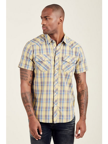 HORSESHOE STITCH WESTERN MENS SHIRT