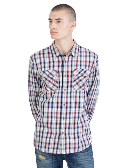 LS UTILITY BUTTON UP MENS SHIRT