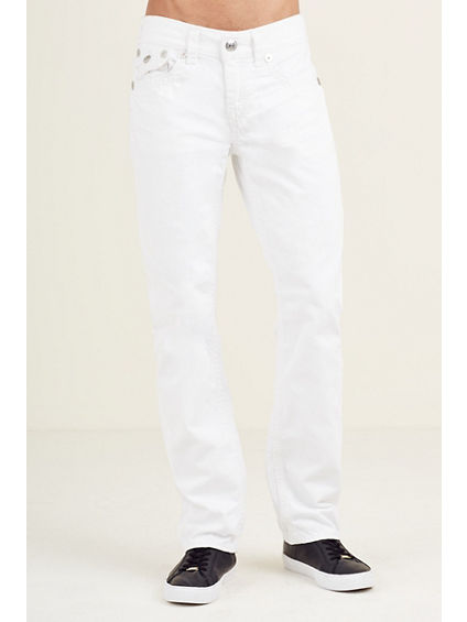 STRAIGHT FLAP WHITE SUPER QT STITCH MENS JEAN