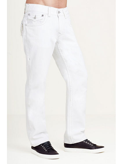 STRAIGHT WHITE FLAP MENS JEAN