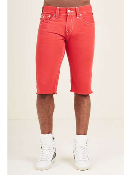 STRAIGHT CUT OFF NATURAL  MENS SHORT