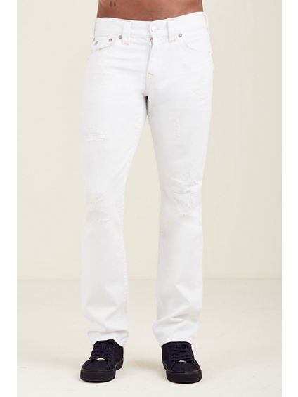 SLIM FLAP BIG T WHITE MENS JEAN