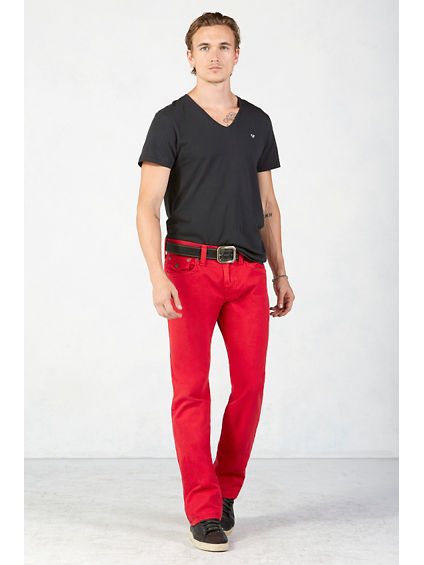 RICKY STRAIGHT MENS RED JEAN