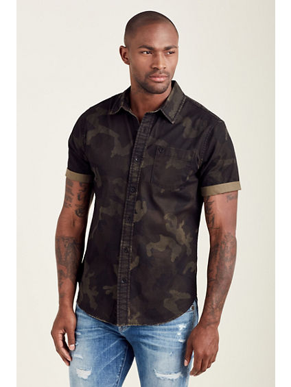 SHORT SLEEVE ROLL UP MENS SHIRT