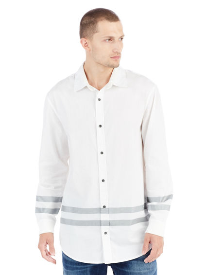 LONG SLEEVE COLLEGIATE MENS SHIRT JACKET
