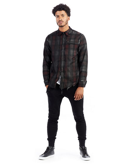 MENS PLAID COATED SHIRT