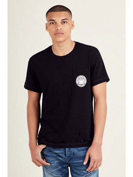 DESTROYED POCKET MENS TEE