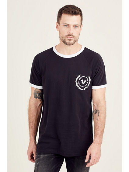 ELONGATED RAGLAN MENS TEE