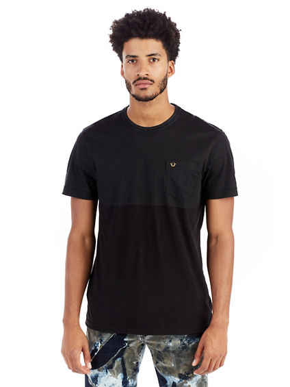 TWO TONE COATED MENS CREW TEE