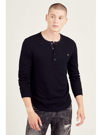LONG SLEEVE MENS HENLEY
