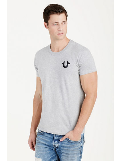 HAND PICKED DOUBLE PUFF GREY MENS TEE