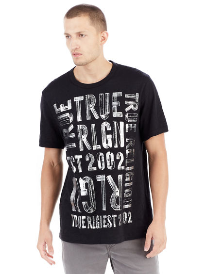 BRUSHED METALLIC GRAPHIC MENS TEE