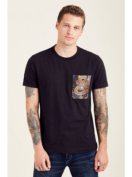 EMBROIDERED POCKET MENS TEE