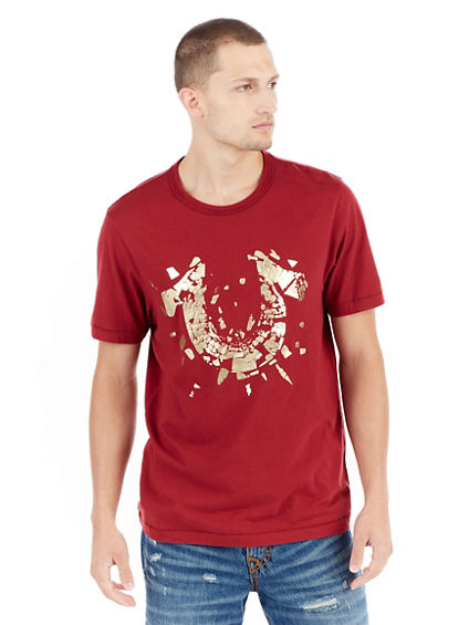 METALLIC SHATTERED LOGO MENS TEE