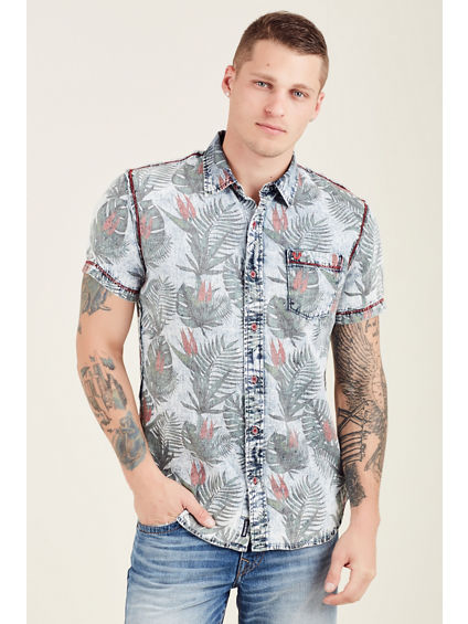ALLOVER FLORAL MENS SHIRT
