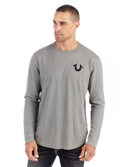 LONG SLEEVE CORE METALLIC CREW MENS TEE