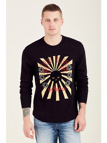 RISING SUN LONG SLEEVE MENS TEE